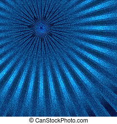 Jeans texture background with rays and star