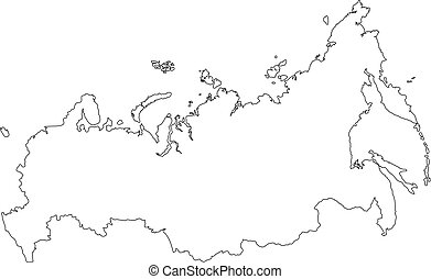 Map of Russia - Vector Outline Illustration