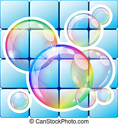Bubbles - Vector illustration - soap bubbles icon. Eps10...