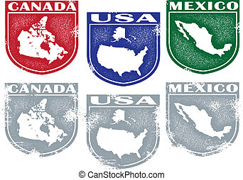 North American Country Crests