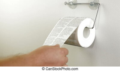 Rss Toilet Roll - A roll of toilet paper as news feeds
