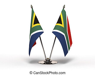 Miniature Flag of South Africa Isolated - Miniature Flag of...