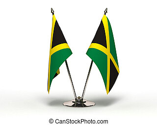 Miniatura, bandera, jamaica, (Isolated)