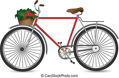 The retro bicycle - Vector illustration of the retro bicycle...