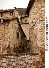 Alley in the historic center of Gubbio