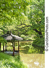 garden pond in seoul south korea