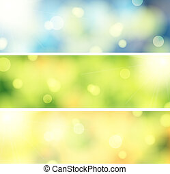 3 Bokeh banners - set of 3 beautiful bokeh banners
