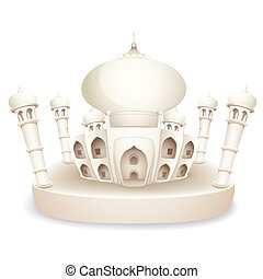 Taj Mahal - illustration of model of Taj Mahal of India