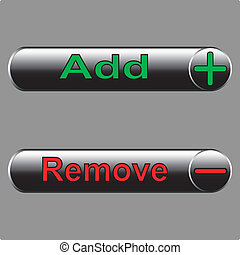Vector icons -  add and remove