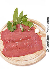 Carne rossa magra-lean red meat - lean red meat with garlic,...