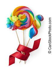 Colorful lollipops