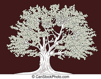 Big tree vector graphical drawing - Big tree