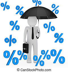 businessman umbrella sale percent