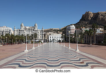 Promenade in Alicante, Catalonia Spain