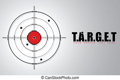 Crosshair on Target Background - illustration of crosshair...