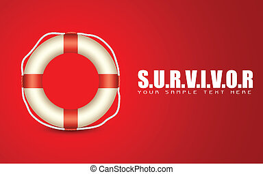 Lifebuoy on Survivor Background - illustration of lifebouy...