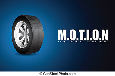 Tyre on Motion Background