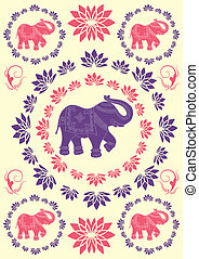 Festive typical indian elephant background - Traditional...