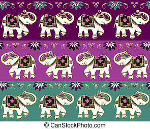 Traditional indian elephant background - Typical indian...