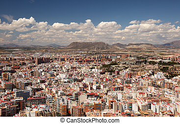 Cityscape of Alicante, Catalonia Spain