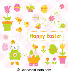 Easter design elements