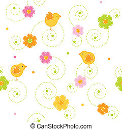 Easter pattern - Seamless Easter pattern