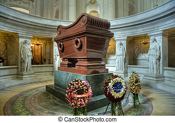 Napoleon's tomb at Les Invalides, Paris, France