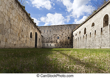 Fortification court - Famous fortification interior, on a...