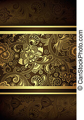 Abstract Chocolate Gold Background