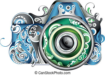 Abstract Camera - Illustration of abstract camera