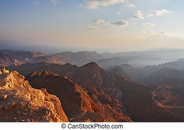 The bible landscape - Sinai and Red sea - Classical bible...