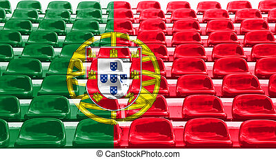 Portugal Flag Pattern on Seat
