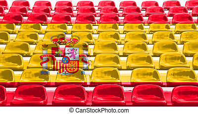Spain Flag Pattern on Seat