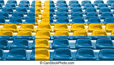 Sweden Flag Pattern on Seat