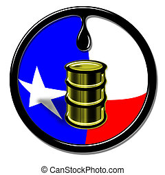 Oil Well Production in Texas.