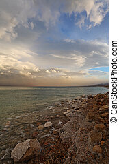Spring on the Dead Sea in Israel