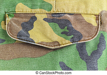Camouflage pattern Pocket