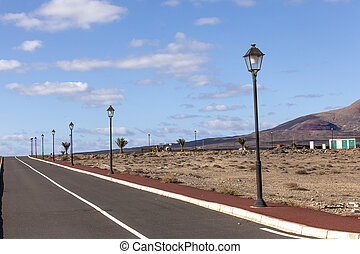 new roads for the development area in Lanzarote - new roads...