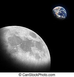 Half moon and Half Earth - The half moon and The Half Earth...