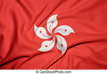 Hong Kong flag background