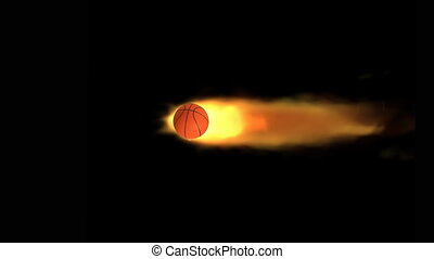 basketball on fire animation