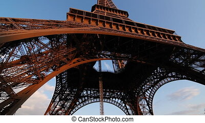 Eiffel Tower. Timelapse.