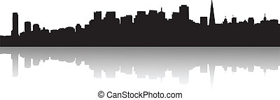 San Francisco Skyline Silhouette - Vector the San Francisco...