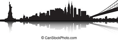 New York skyline - Vector of the New York skyline on white...