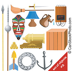 Vector illustration of a set of objects. EPS10