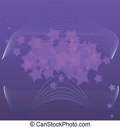 Vector illustration of violet abstract background with stars