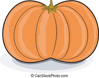 Vector illustration of cartoon pumpkin