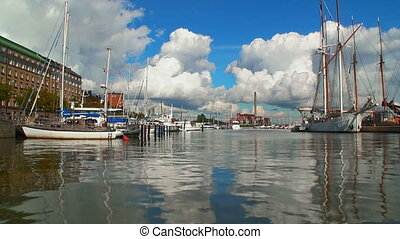 Old port in Helsinki, Finland - Wonderful summer scenery of...