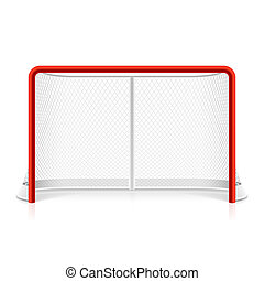 Ice hockey net vector illustration
