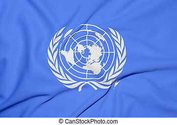 United Nations flag background